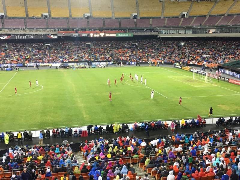 Seating view for RFK Stadium Section M35 Row 1 Seat 7