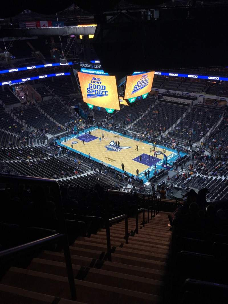 Seating view for Spectrum Center Section 221 Row T Seat 26