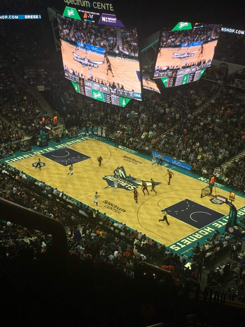 Seating view for Spectrum Center Section 221 Row T Seat 27