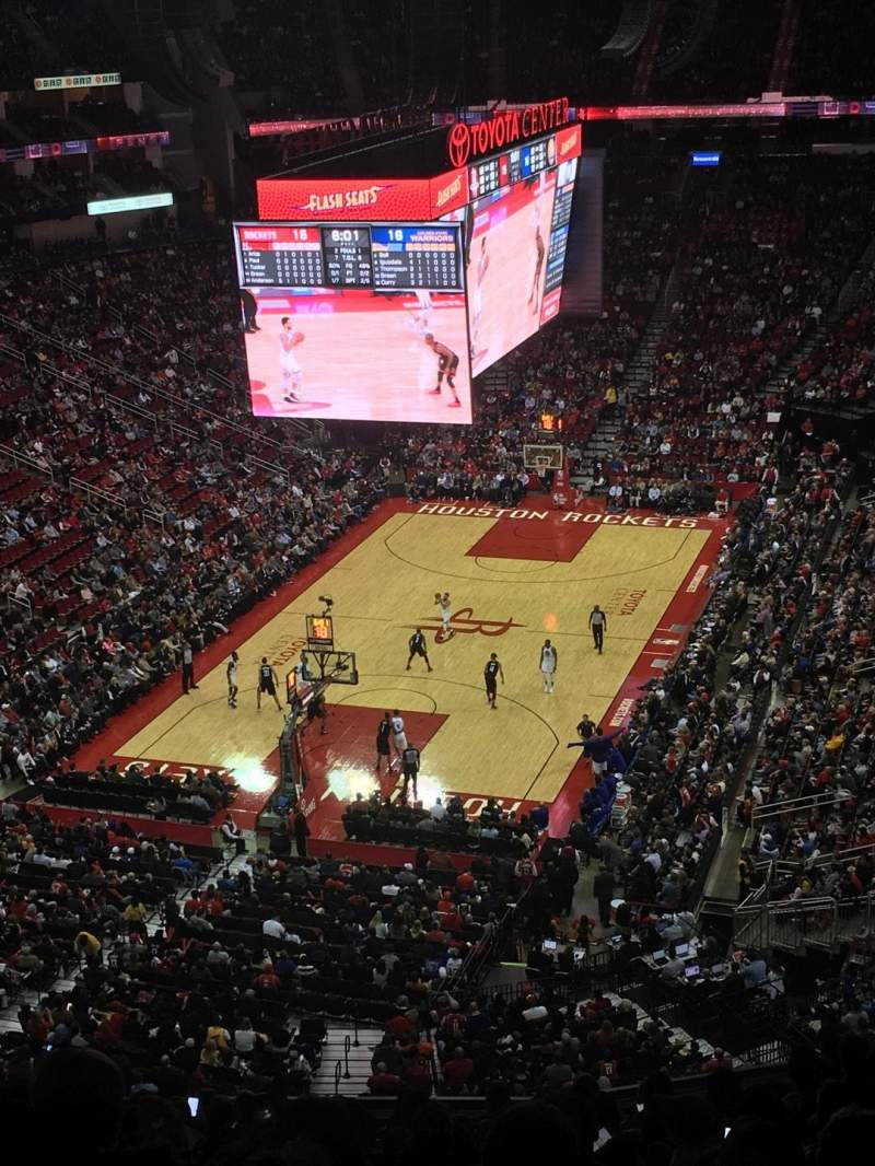 Toyota Center Section 433 Row 14