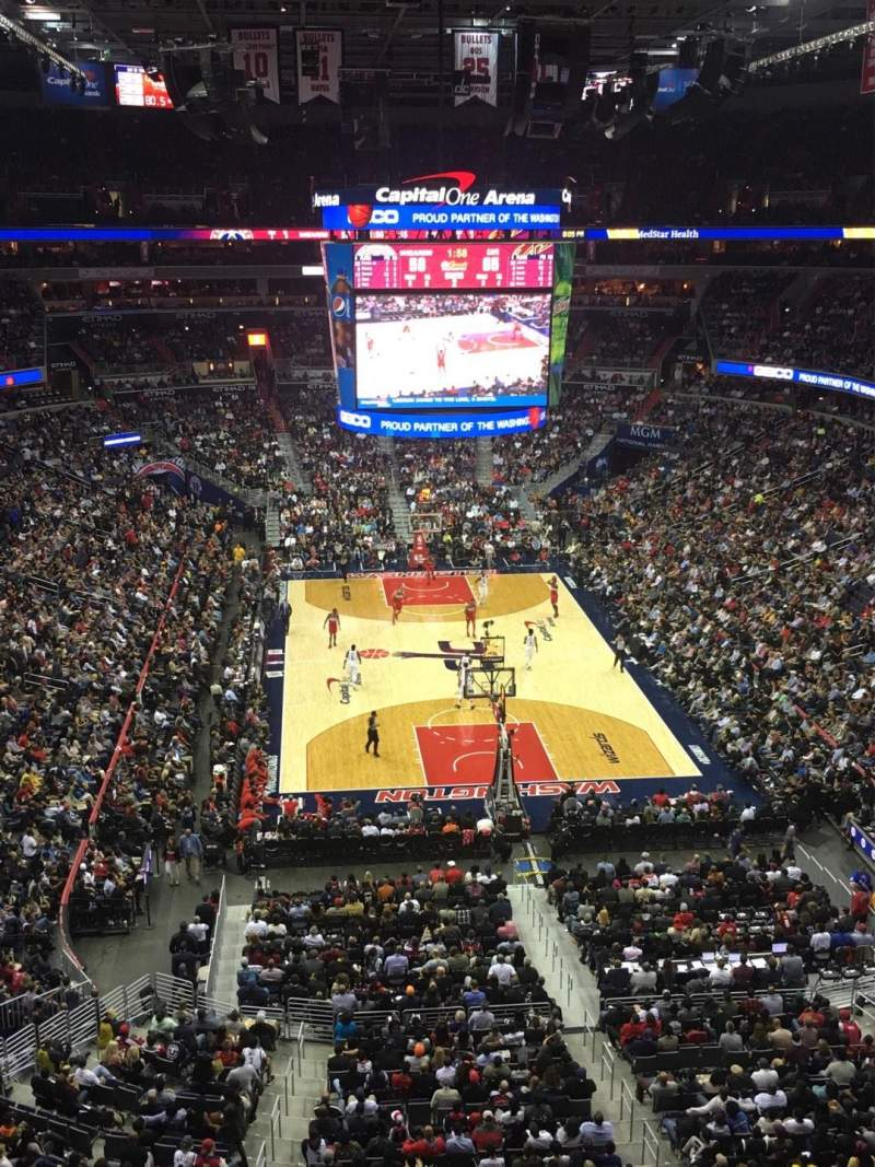 Seating view for Capital One Arena Section 408 Row A Seat 8