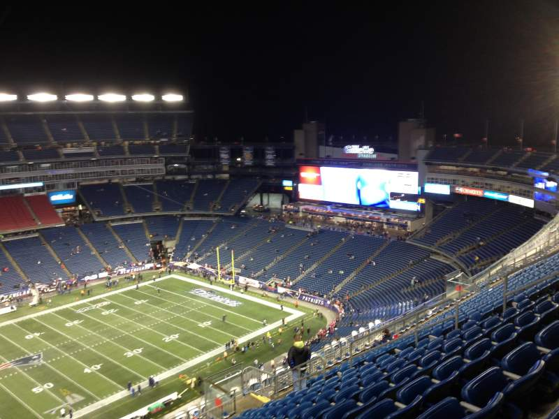 Seating view for Gillette Stadium Section 334 Row 20 Seat 17