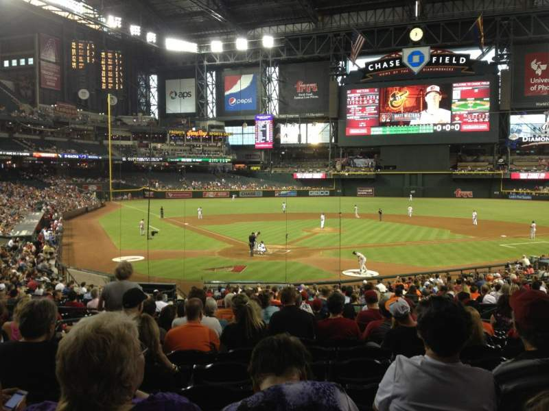 Seating view for Chase Field Section 120 Row 32 Seat 11