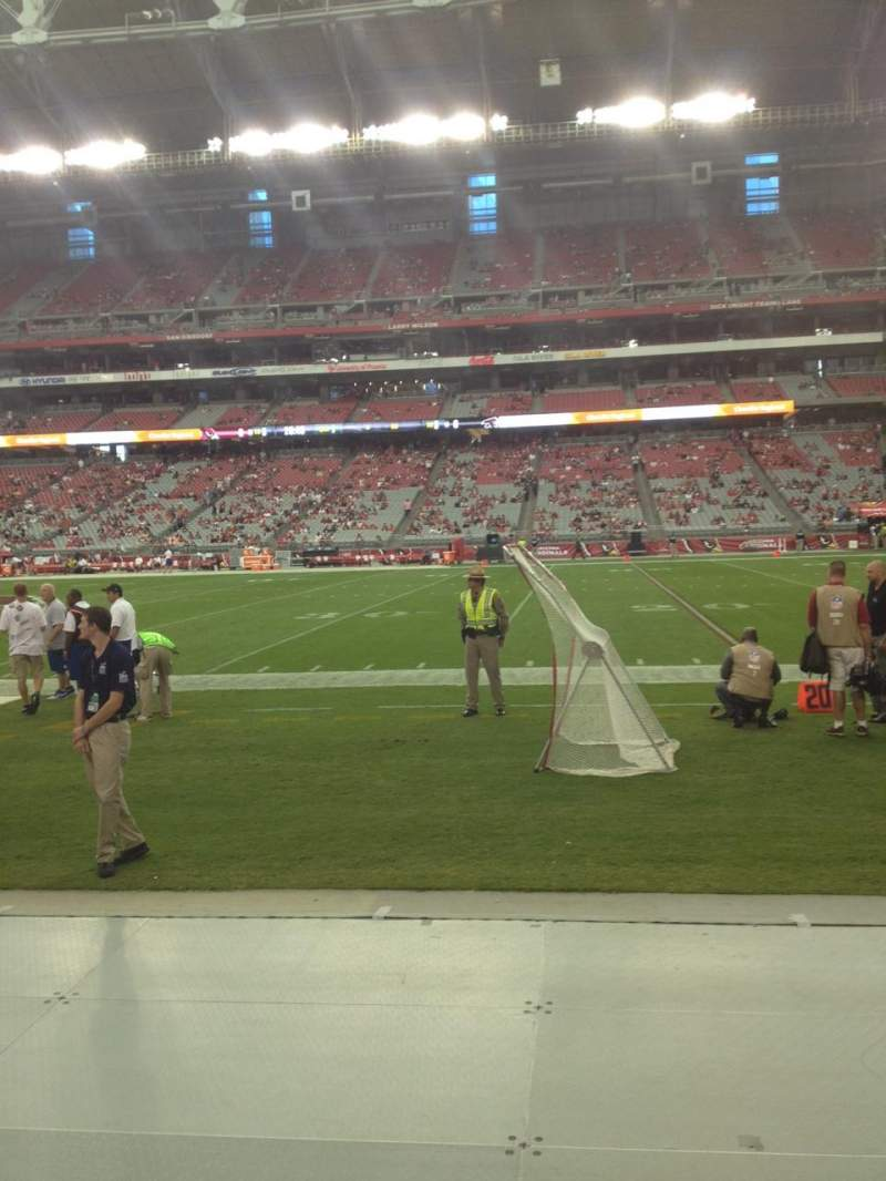 Seating view for University Of Phoenix Stadium Section 127 Row 1 Seat 10