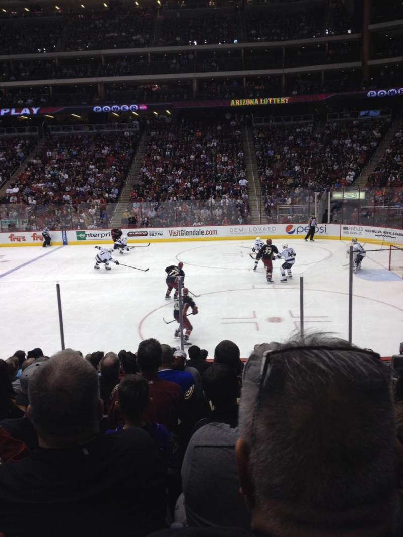 Seating view for Gila River Arena Section 121 Row L Seat 4