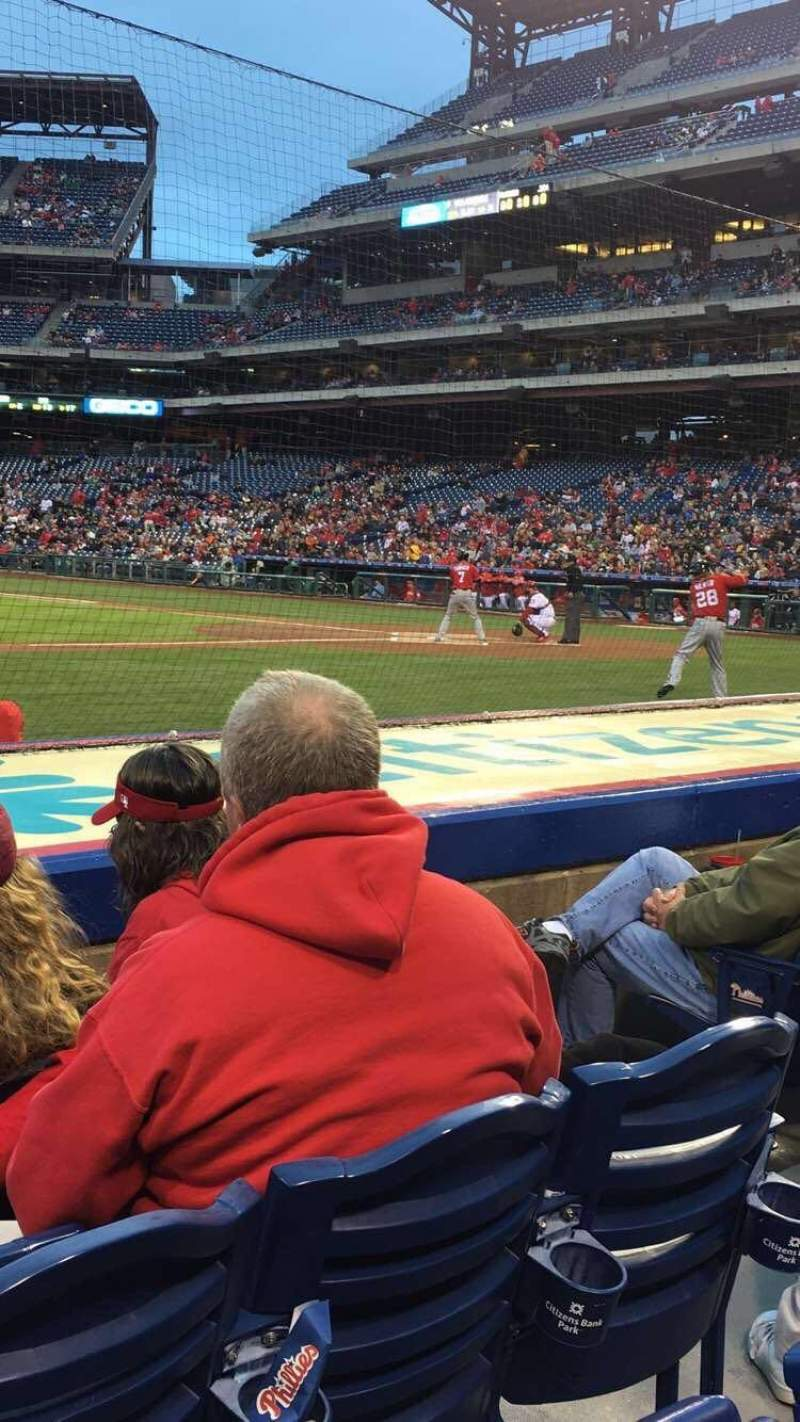 Citizens Bank Park, section: 131, row: 4, seat: 5