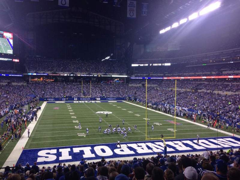 Seating view for Lucas Oil Stadium Section 228 Row 12 Seat 22