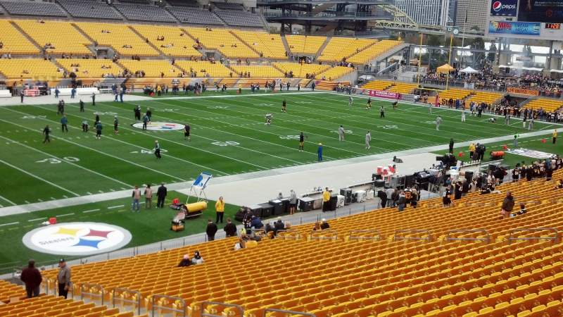 Seating view for Heinz Field Section 231 Row A Seat 15
