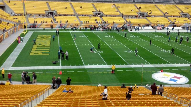 Seating view for Heinz Field Section 231 Row A Seat 15-18