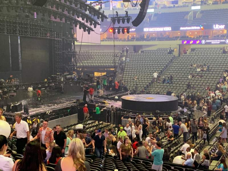 Seating view for American Airlines Center Section 119 Row T Seat 4