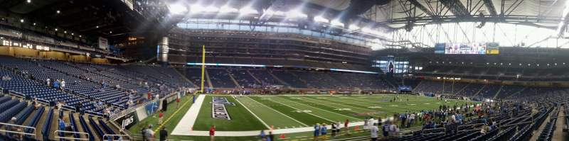 Seating view for Ford Field Section 123 Row 14 Seat 1-2