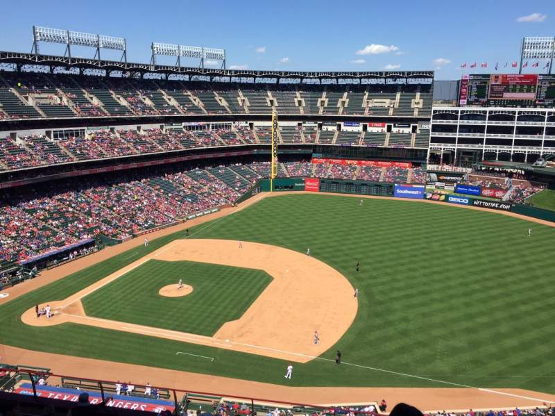 Seating view for Globe Life Park in Arlington Section 336 Row 23 Seat 13