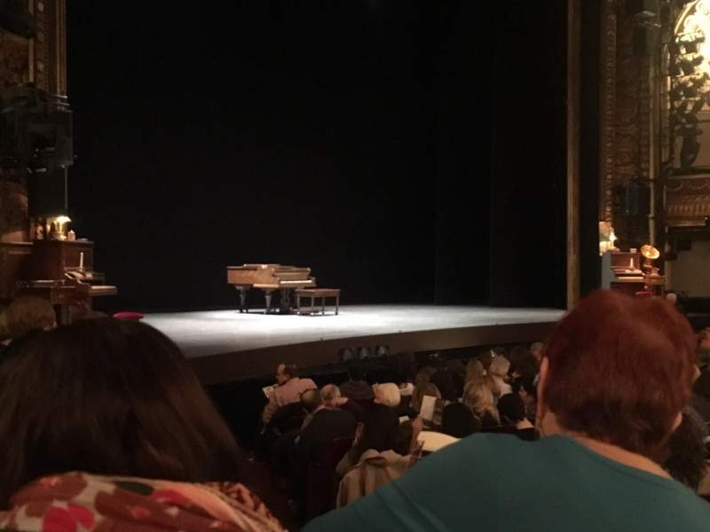 Seating view for Palace Theatre (Broadway) Section Orchestra Row L Seat 2