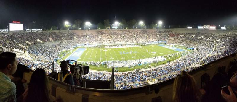 Seating view for Rose Bowl Section Club E208 Row B Seat 7