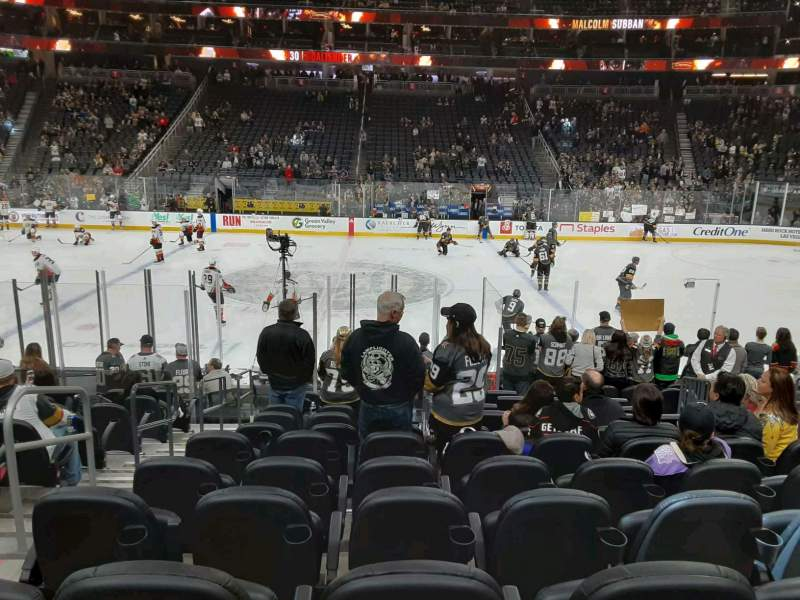 Seating view for T-Mobile Arena Section 16 Row J Seat 3