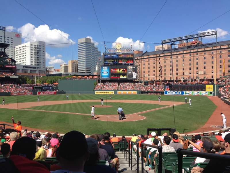 Seating view for Oriole Park at Camden Yards Section 40 Row 19 Seat 1