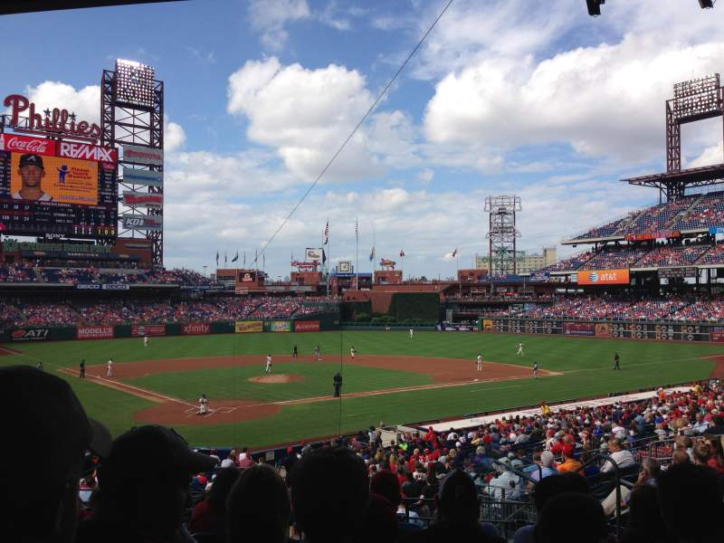Seating view for Citizens Bank Park Section 122 Row 33 Seat 7