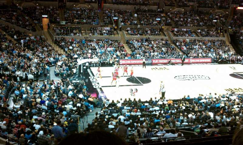 Seating view for AT&T Center Section 124 Row 30 Seat 15