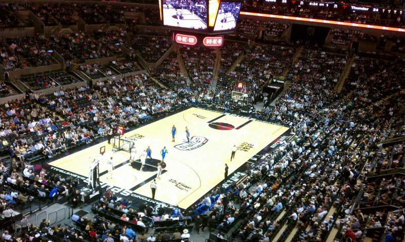 Seating view for AT&T Center Section 213 Row 1 Seat 13