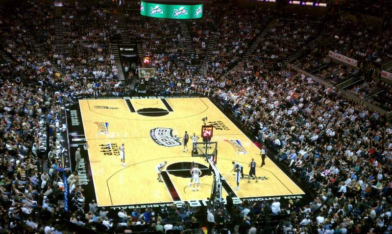 Seating view for AT&T Center Section 201 Row 1 Seat 12