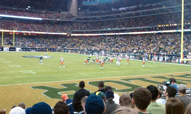 Seating view for NRG Stadium Section 138 Row H Seat 14