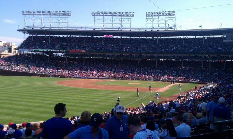 Seating view for Wrigley Field Section 201 Row 4 Seat 7