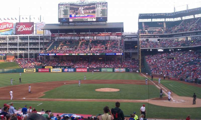 Seating view for Globe Life Park in Arlington Section 21 Row 26 Seat 3