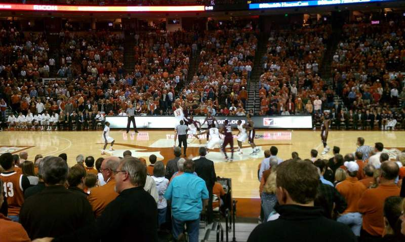 Seating view for Frank Erwin Center Section 36 Row 13 Seat 1