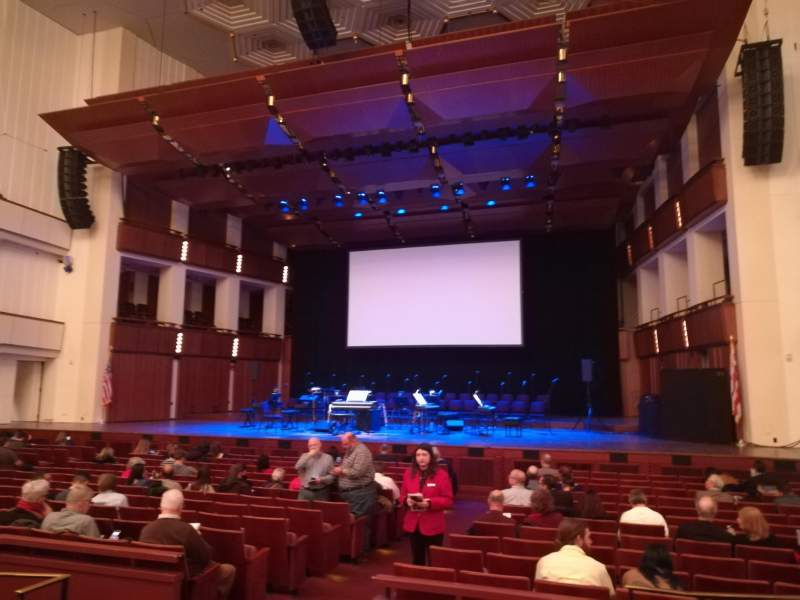 The Kennedy Center Concert Hall, section: Orchestra, row: Q, seat: 8