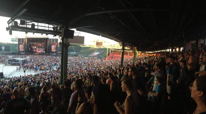 Fenway Park, section: Grandstand 15, row: 10, seat: 16