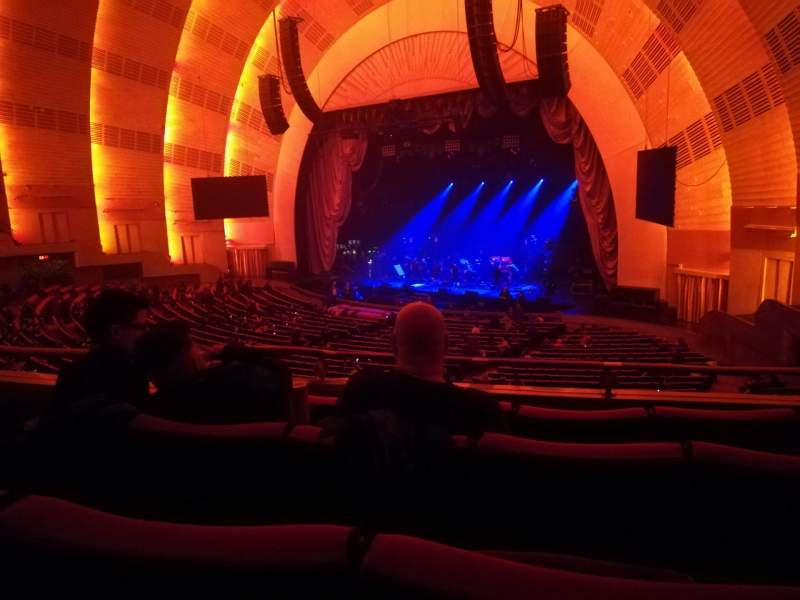 Seating view for Radio City Music Hall Section 1st Mezzanine 1 Row B Seat 101