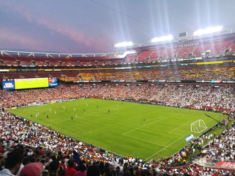 Seating view for FedEx Field Section 316 Row 13 Seat 11