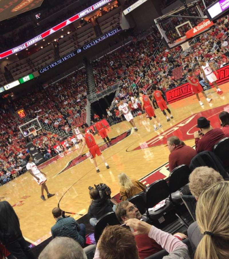 Seating view for KFC Yum! Center Section 112 Row G Seat 5