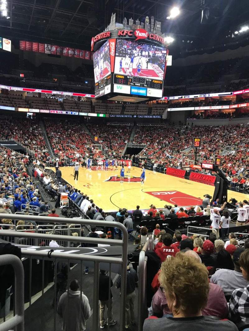 Seating view for KFC Yum! Center Section 112 Row R Seat 15