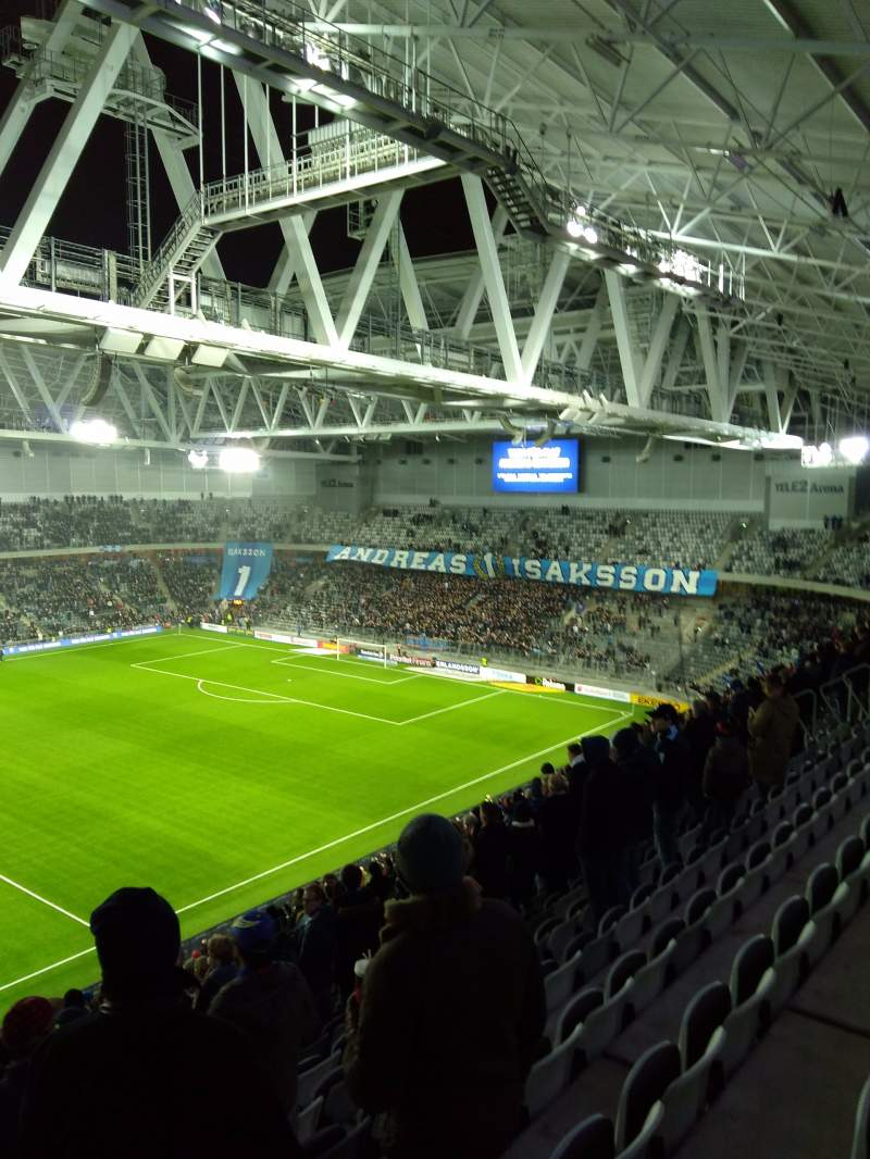 Seating view for Tele2 arena Section 306 Row 19 Seat 257