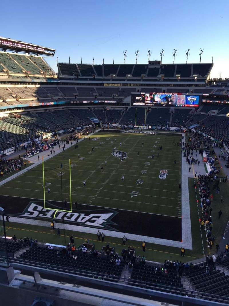 Seating view for Lincoln Financial Field Section 237 Row 6 Seat 6