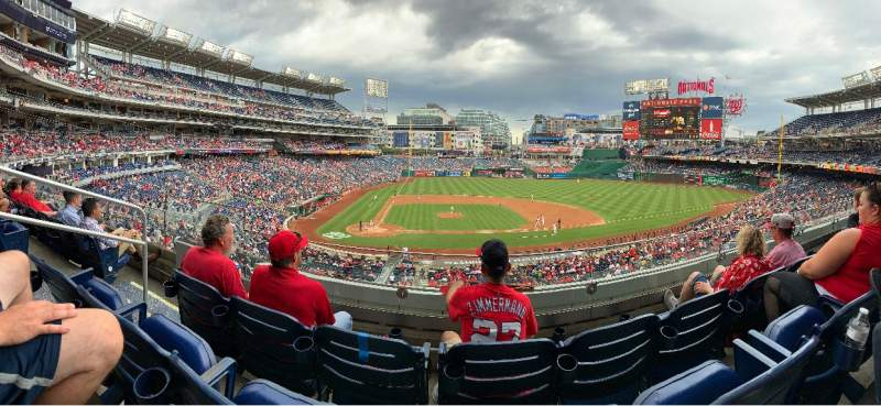 Seating view for Nationals Park Section 218 Row C Seat 18