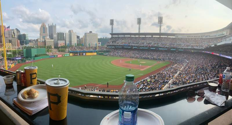 Seating view for PNC Park Section Suite 60 Row A Seat 3