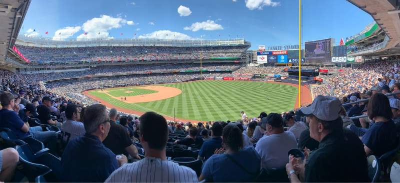 Seating view for Yankee Stadium Section 210 Row 16 Seat 6