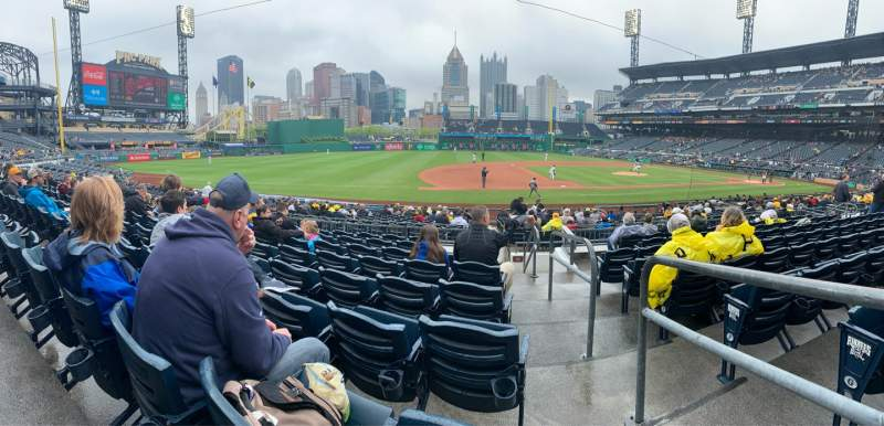 Seating view for PNC Park Section 125 Row H Seat 1
