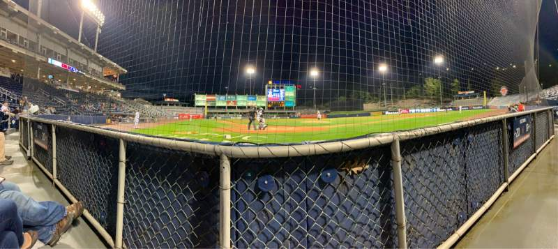 Seating view for PNC Field Section Infield Box 20 Row 1 Seat 6