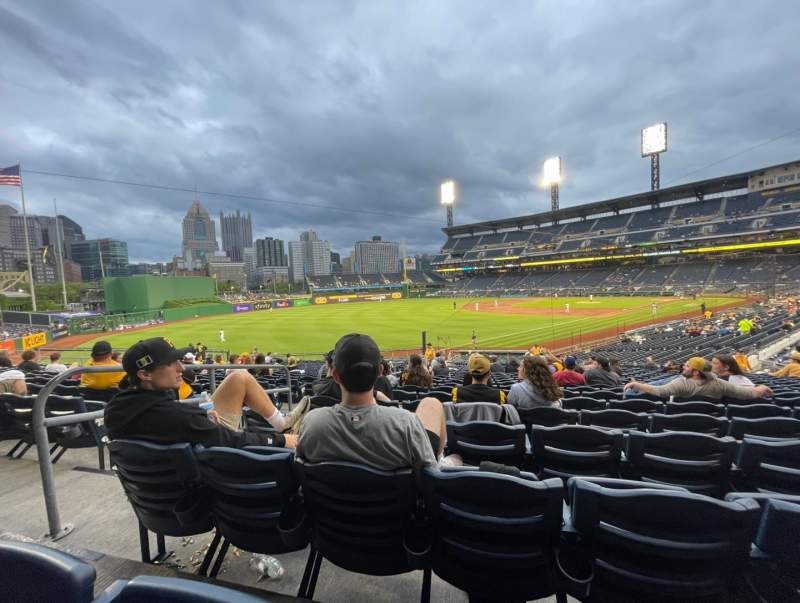 Seating view for PNC Park Section 130 Row U Seat 21