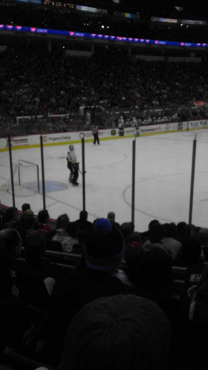 Seating view for PNC Arena Section 122 Row K Seat 14