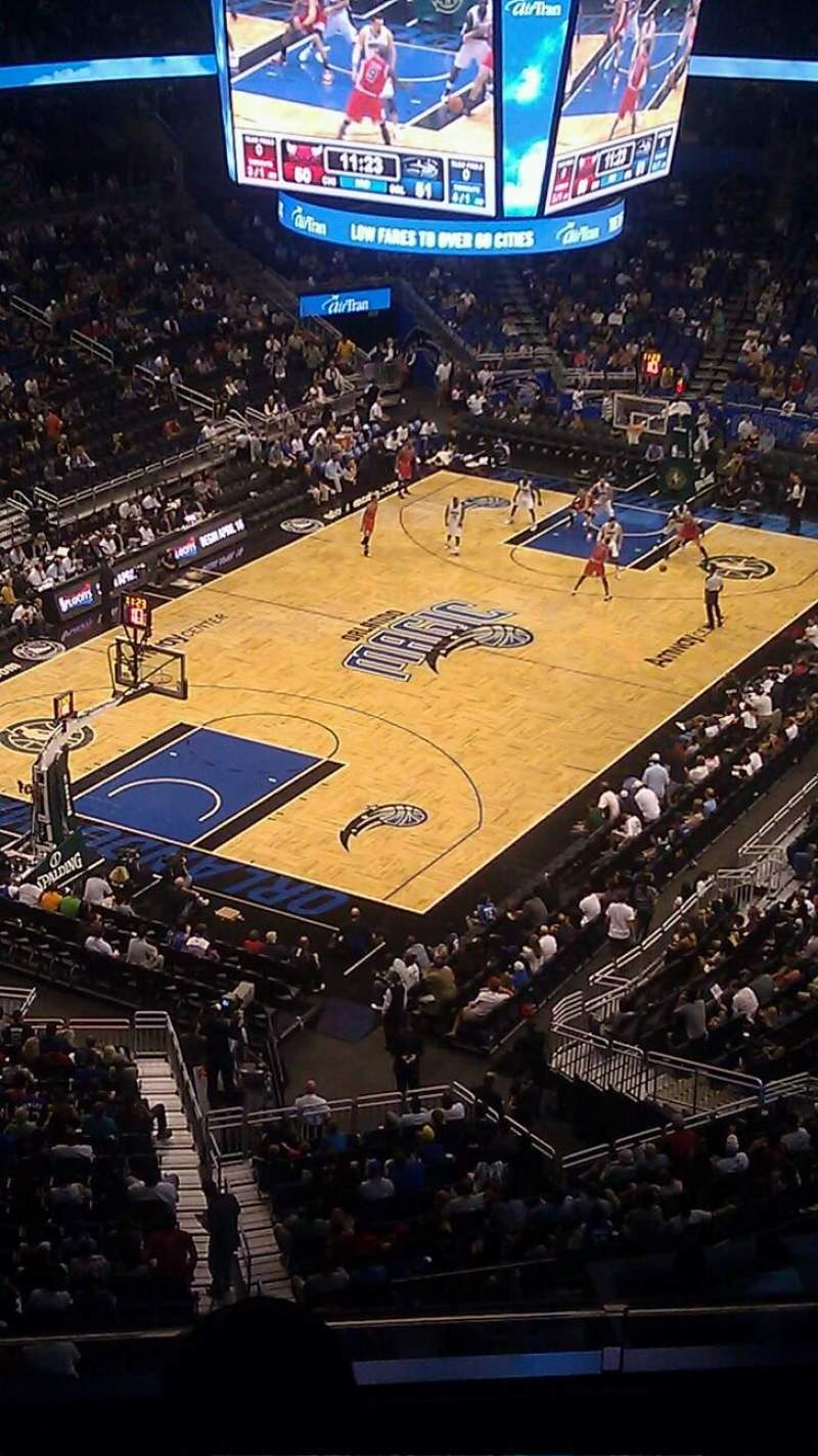 Seating view for Amway Center Section 230 Row 4 Seat 17