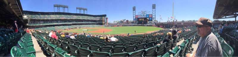 Seating view for AT&T Park Section 105 Row 27 Seat 6
