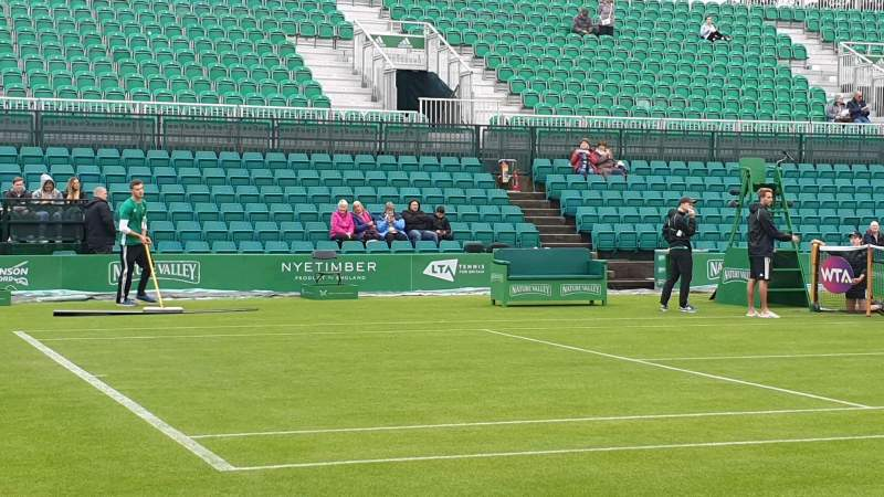 Seating view for Nottingham Tennis Centre Section West Stand Row B Seat 58