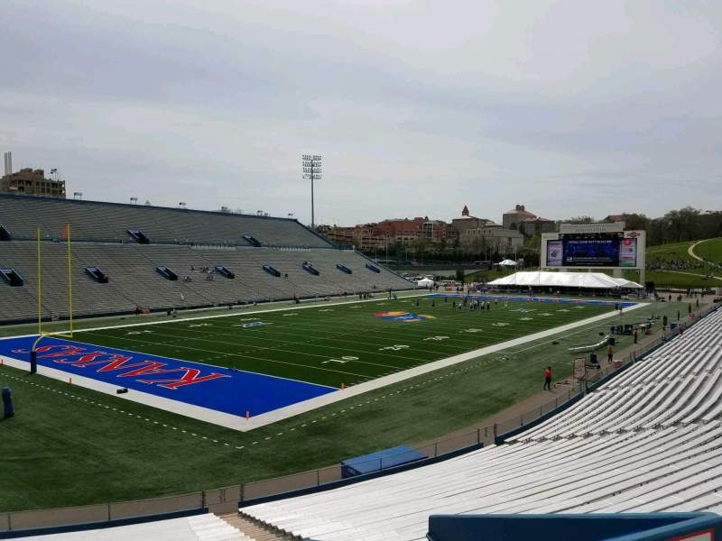 Seating view for David Booth Kansas Memorial Stadium Section 11 Row 29 Seat 15