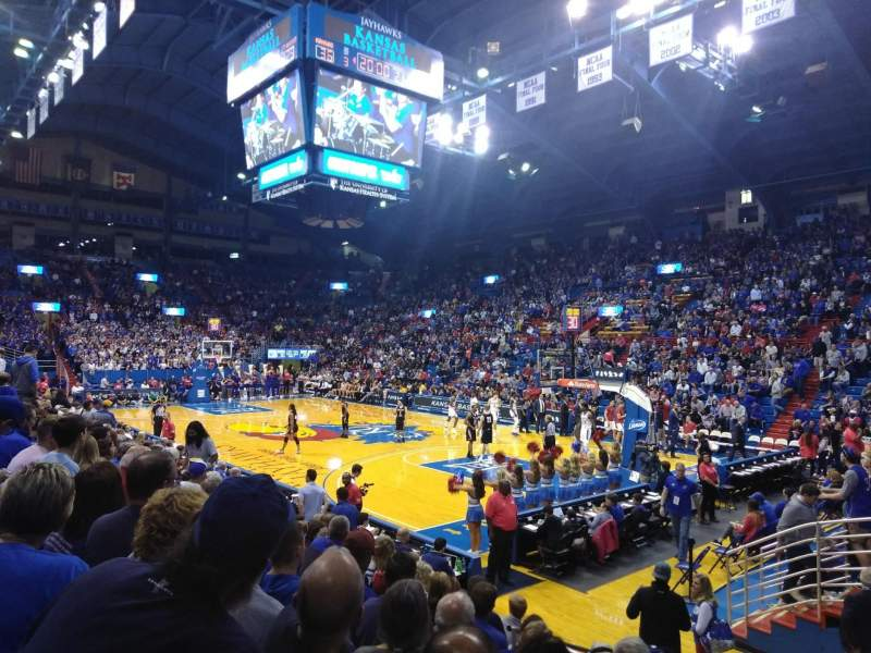 Seating view for Allen Fieldhouse Section D1 Row 9 Seat 2