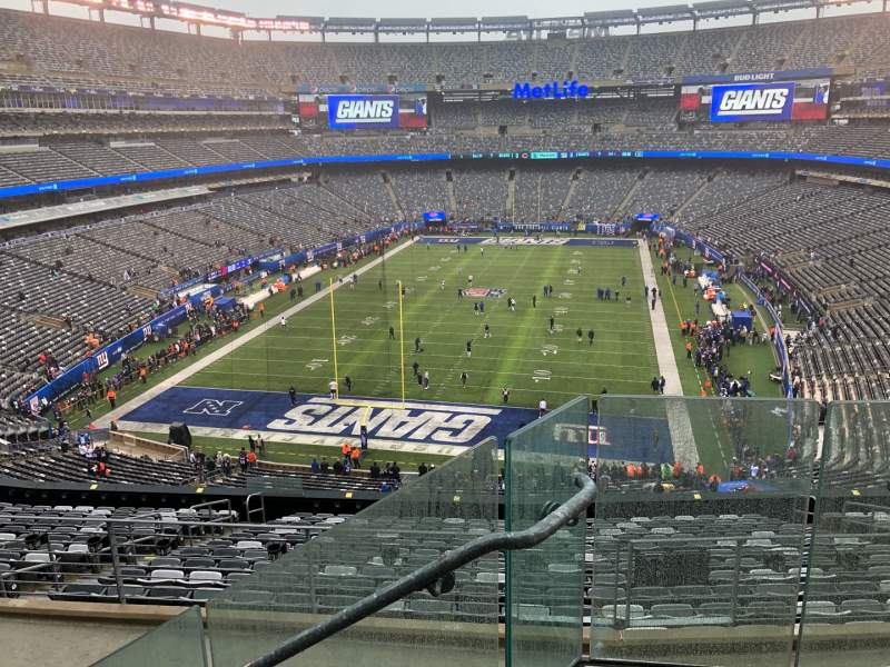 Seating view for MetLife Stadium Section 225B Row 3 Seat 1
