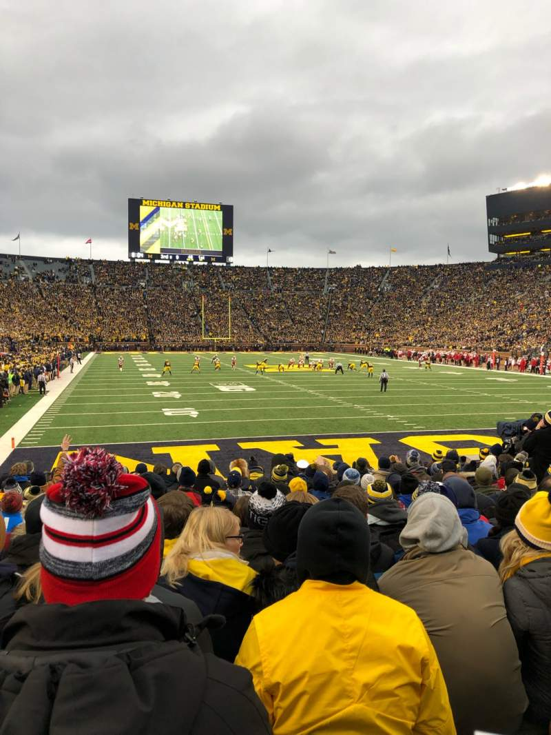 Seating view for Michigan Stadium Section 13 Row 11 Seat 8